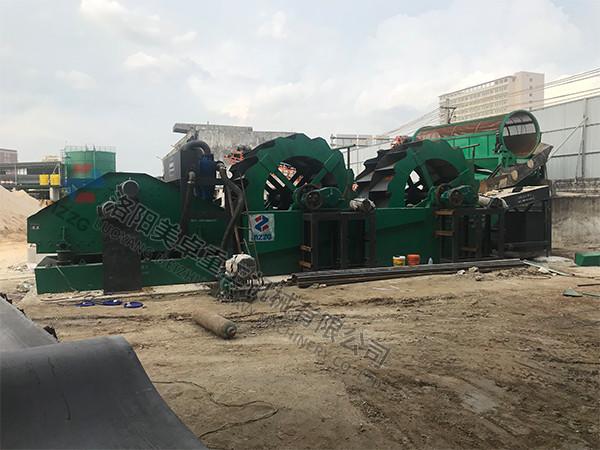 广东揭阳轮斗洗砂机现场