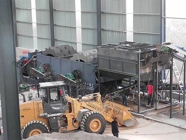 安徽滁州零排放洗沙生产线现场含配置方案