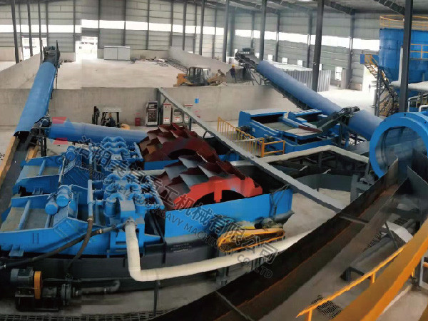 河南中牟时产120吨双轮洗砂回收一体机现场